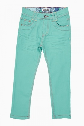 Contrast Stitch Girls Jeans