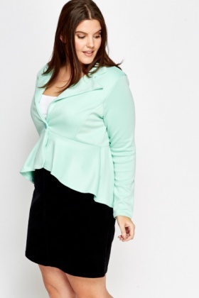 Cropped Flared Hem Blazer