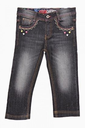 Denim Heart Stitch Jeans