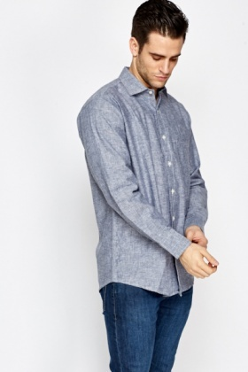 Grey Denim Look Shirt