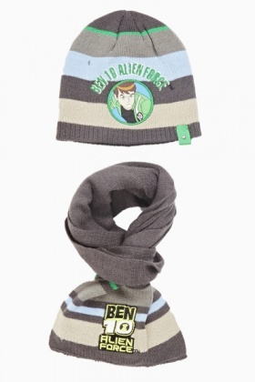 Hat & Scarf Set Ben 10 Allien Force