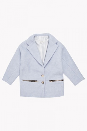 Wool Blend Sky Blue Jacket