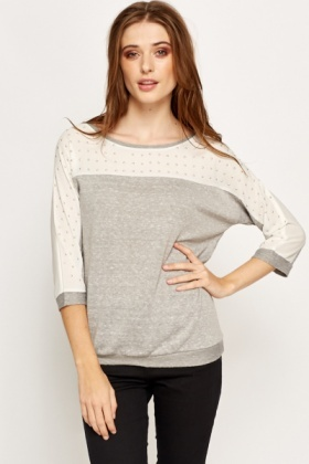 Studded Shirred Trim Jumper