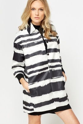 A-Line Striped Jacket
