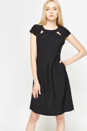 Cut Out Formal Skater Dress