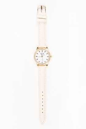Skinny Strap Diamante Watch