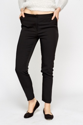 Black Tapered Formal Trousers
