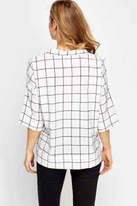 Grid Check Mono Shirt