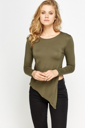 Casual Asymmetric Side Slit Top