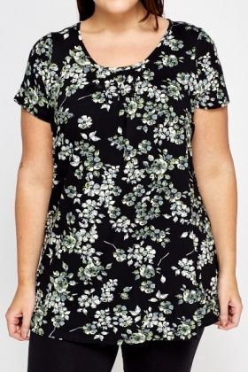 Black Multi Floral Tunic