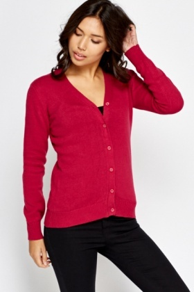 Basic Knit Button Up Jumper