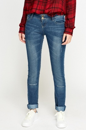 Skinny Fit Low Rise Jeans
