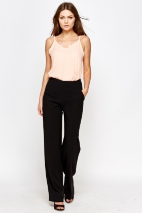 Black Tailored Formal Trousers
