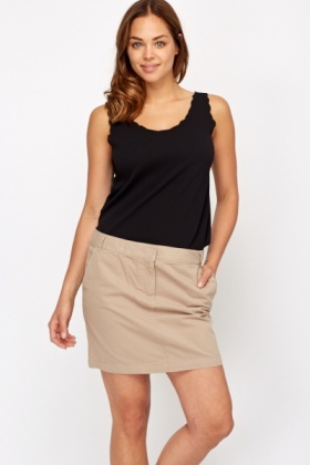 Cotton Mini Skirt