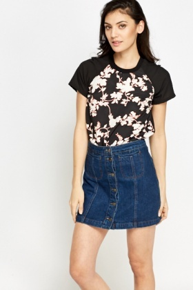 Floral Printed Silky Top