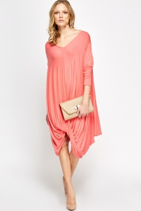 Scoop Neck Asymmetric Dress