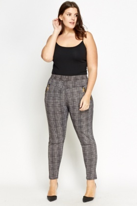 Houndstooth Check Trousers