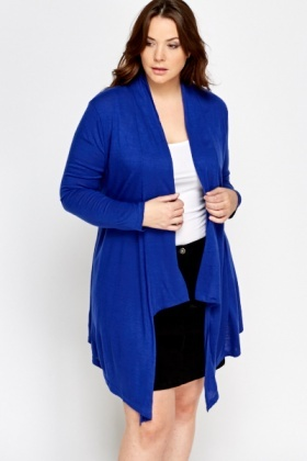 Royal Blue Asymmetric Cardigan