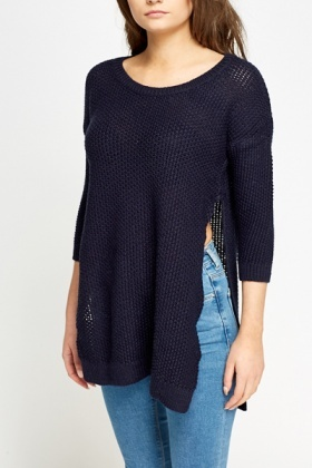 Knitted Split Side Jumper