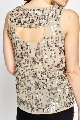 Sequin Shell Party Top