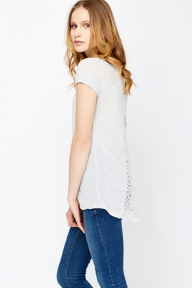 Crochet Back Casual Top