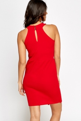 Red Party Overlay Dress