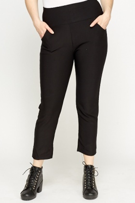 Cropped Black Trousers