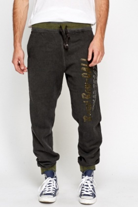 Printed Distressed Joggers
