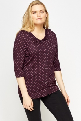 Printed Purple Night Top