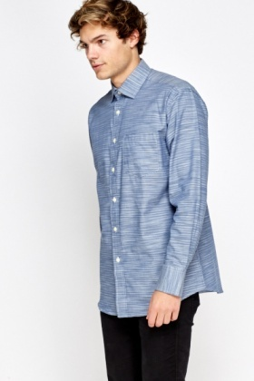 Striped Middle Blue Shirt