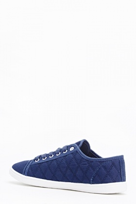 Quilted Lace Up Plimsolls