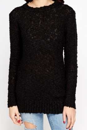 Long Bobble Knit Jumper