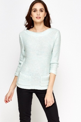 Loose Knit Pocket Jumper