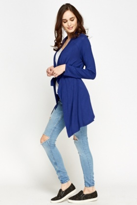 Middle Blue Waterfall Cardigan