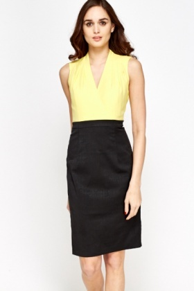 Sleeveless Contrast Formal Dress