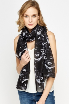 Black Marilyn Monroe Scarf