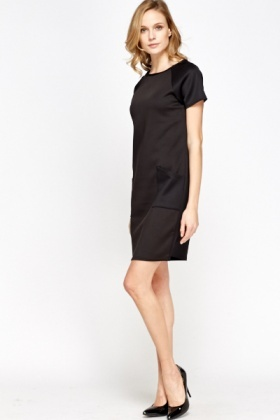 Black Pocket Front Dress