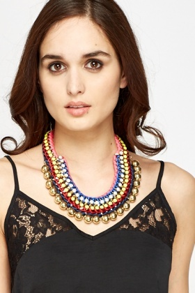 Multi Coloured Chunky Necklace