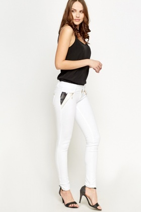Sequin Side Slim Leg Trousers
