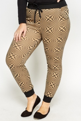 Ornate Print Elasticated Joggers