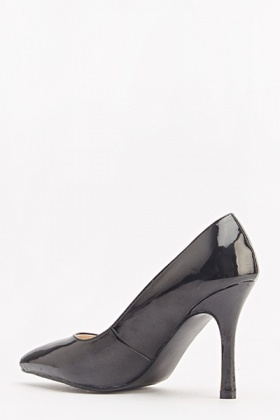 Black PU Pointed Heels