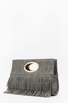 Fringed Front Large Clutch