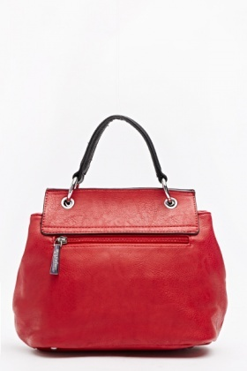 Red Contrast Handbag