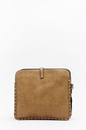 Woven Trim Crossbody Bag