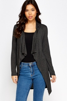 Charcoal Waterfall Cardigan
