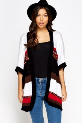 Multi Stripe Box Cardigan