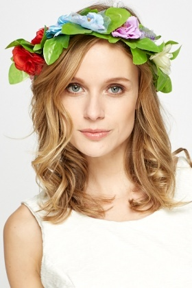 Green Multi Floral Headband