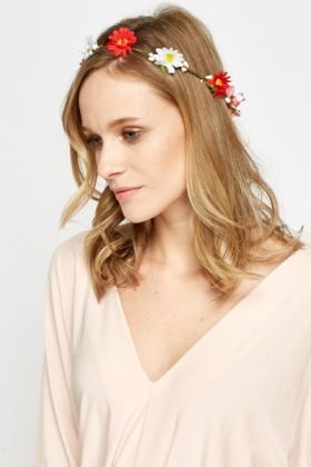 Tie Up Floral Head Band