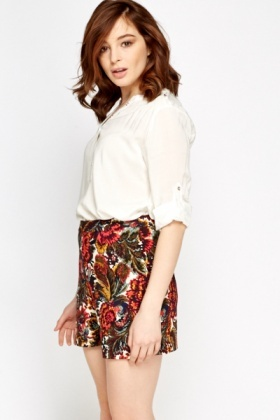 White Button Front Blouse