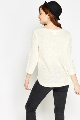 Loose Knit Front Jumper